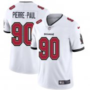 Wholesale Cheap Tampa Bay Buccaneers #90 Jason Pierre-Paul Men's Nike White Vapor Limited Jersey