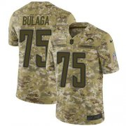 Wholesale Cheap Nike Chargers #75 Bryan Bulaga Camo Men's Stitched NFL Limited 2018 Salute To Service Jersey