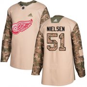 Wholesale Cheap Adidas Red Wings #51 Frans Nielsen Camo Authentic 2017 Veterans Day Stitched NHL Jersey