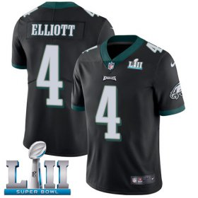 Wholesale Cheap Nike Eagles #4 Jake Elliott Black Alternate Super Bowl LII Youth Stitched NFL Vapor Untouchable Limited Jersey
