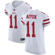 Wholesale Cheap Nike 49ers #11 Brandon Aiyuk White Men's Stitched NFL New Elite Jersey