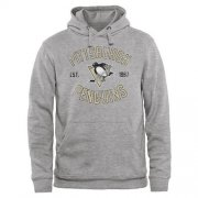Wholesale Cheap Pittsburgh Penguins Heritage Pullover Hoodie Ash