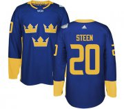Wholesale Cheap Team Sweden #20 Alexander Steen Blue 2016 World Cup Stitched NHL Jersey