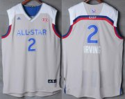 Wholesale Cheap Men's Eastern Conference Cleveland Cavaliers #2 Kyrie Irving adidas Gray 2017 NBA All-Star Game Swingman Jersey