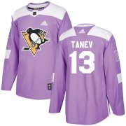Wholesale Cheap Adidas Penguins #13 Brandon Tanev Purple Authentic Fights Cancer Stitched Youth NHL Jersey