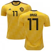 Wholesale Cheap Belgium #17 Origi Away Kid Soccer Country Jersey