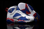 Wholesale Cheap Men's Air Jordan 7 Retro Shoes Blue/silver-white-red