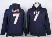 Wholesale Cheap Denver Broncos #7 John Elway Blue Pullover Hoodie