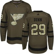 Wholesale Cheap Adidas Blues #29 Vince Dunn Green Salute to Service Stitched NHL Jersey