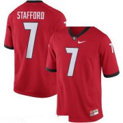 Wholesale Cheap Men's Georgia Bulldogs #7 Matthew Stafford Red Stitched College Football 2016 Nike NCAA Jersey