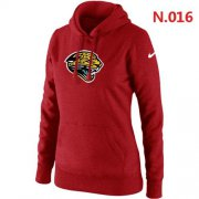 Wholesale Cheap Women's Jacksonville Jaguars Logo Pullover Hoodie Red