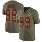 Wholesale Cheap Nike Redskins #99 Chase Young Olive Youth Stitched NFL Limited 2017 Salute To Service Jersey