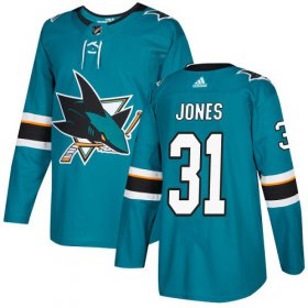 Wholesale Cheap Adidas Sharks #31 Martin Jones Teal Home Authentic Stitched Youth NHL Jersey