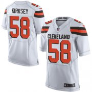 Wholesale Cheap Nike Browns #58 Christian Kirksey White Men's Stitched NFL New Elite Jersey
