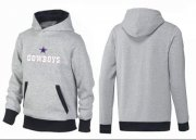 Wholesale Cheap Dallas Cowboys Authentic Logo Pullover Hoodie Grey & Black