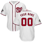 Wholesale Cheap Washington Nationals Majestic 2019 World Series Champions Home Official Cool Base Custom Jersey White