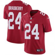 Wholesale Cheap Nike Giants #24 James Bradberry Red Alternate Men's Stitched NFL Vapor Untouchable Limited Jersey