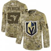 Wholesale Cheap Adidas Golden Knights #57 David Perron Camo Authentic Stitched NHL Jersey