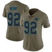 Wholesale Cheap Nike Panthers #92 Zach Kerr Olive Women's Stitched NFL Limited 2017 Salute To Service Jersey