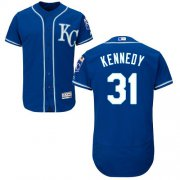 Wholesale Cheap Royals #31 Ian Kennedy Royal Blue Flexbase Authentic Collection Stitched MLB Jersey