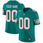Wholesale Cheap Nike Miami Dolphins Customized Aqua Green Alternate Stitched Vapor Untouchable Limited Youth NFL Jersey