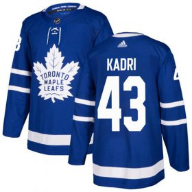 Wholesale Cheap Adidas Maple Leafs #43 Nazem Kadri Blue Home Authentic Stitched Youth NHL Jersey