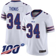Wholesale Cheap Nike Bills #34 Thurman Thomas White Men's Stitched NFL 100th Season Vapor Limited Jersey
