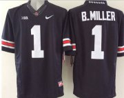 Wholesale Cheap Men's Ohio State Buckeyes #5 Baxton Miller Black College Football Nike Lmited Jersey