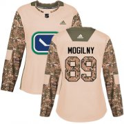 Wholesale Cheap Adidas Canucks #89 Alexander Mogilny Camo Authentic 2017 Veterans Day Women's Stitched NHL Jersey