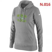 Wholesale Women's Nike Green Bay Packers Heart & Soul Pullover Hoodie Light Grey