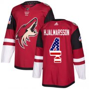 Wholesale Cheap Adidas Coyotes #4 Niklas Hjalmarsson Maroon Home Authentic USA Flag Stitched Youth NHL Jersey