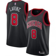 Wholesale Cheap Bulls #8 Zach LaVine Black Basketball Swingman Statement Edition 2019-2020 Jersey