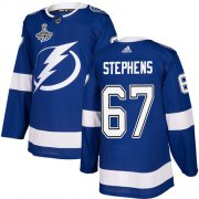 Cheap Adidas Lightning #67 Mitchell Stephens Blue Home Authentic 2020 Stanley Cup Champions Stitched NHL Jersey