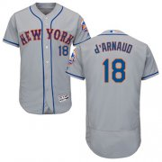 Wholesale Cheap Mets #18 Travis d'Arnaud Grey Flexbase Authentic Collection Stitched MLB Jersey