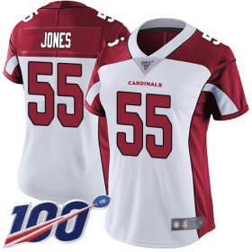 Wholesale Cheap Nike Cardinals #55 Chandler Jones White Women\'s Stitched NFL 100th Season Vapor Limited Jersey