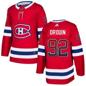 Wholesale Cheap Adidas Canadiens #92 Jonathan Drouin Red Home Authentic Drift Fashion Stitched NHL Jersey
