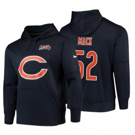 Wholesale Cheap Chicago Bears #52 Khalil Mack Nike NFL 100 Primary Logo Circuit Name & Number Pullover Hoodie Navy