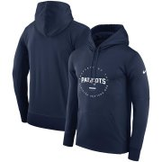 Wholesale Cheap New England Patriots Nike Sideline Property Of Wordmark Logo Performance Pullover Hoodie Navy