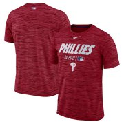 Wholesale Cheap Philadelphia Phillies Nike Authentic Collection Velocity Team Issue Performance T-Shirt Red