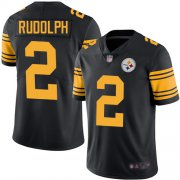 Wholesale Cheap Nike Steelers #2 Mason Rudolph Black Youth Stitched NFL Limited Rush Jersey
