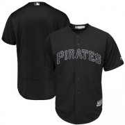 Wholesale Cheap Pittsburgh Pirates Blank Majestic 2019 Players' Weekend Cool Base Team Jersey Black