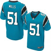 Wholesale Cheap Nike Panthers #51 Sam Mills Blue Alternate Men's Stitched NFL Elite Jersey