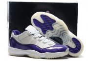 Wholesale Cheap Air Jordan 11 Low Shoes White Purple