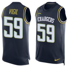 Wholesale Cheap Nike Chargers #59 Nick Vigil Navy Blue Team Color Men\'s Stitched NFL Limited Tank Top Jersey