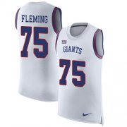 Wholesale Cheap Nike Giants #75 Cameron Fleming White Men's Stitched NFL Limited Rush Tank Top Jersey