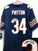 Wholesale Cheap Nike Bears #34 Walter Payton Navy Blue Team Color Men's Stitched NFL Elite Autographed Jersey
