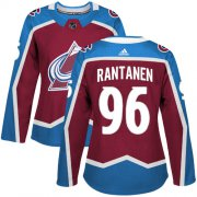 Wholesale Cheap Adidas Avalanche #96 Mikko Rantanen Burgundy Home Authentic Women's Stitched NHL Jersey