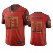 Wholesale Cheap San Francisco 49ers Custom Orange Vapor Limited City Edition NFL Jersey