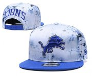 Wholesale Cheap Lions Team Logo Smoke Blue Adjustable Hat TX