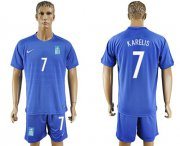 Wholesale Cheap Greece #7 Karelis Away Soccer Country Jersey